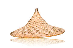 Weave hat. Brown weaving hat Royalty Free Stock Photography