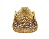 Weave hat isolated on white background, cowboy hat. Weave hat isolated on white background, cowboy hat ,brown colour Royalty Free Stock Image