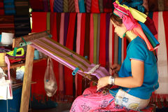 Weave  Karen. In meahongson, thailand Royalty Free Stock Photography