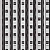Weave listrado grosso e fino preto e branco com a estrela dentro do pa Imagens de Stock
