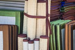 Weave mat texture. Traditional Thai reed mat texture. Thaimat, pattern of the mat in local traditional Thailand stock image