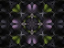 Weave me colourful too. Striking kaleidoscope textured background pattern royalty free illustration