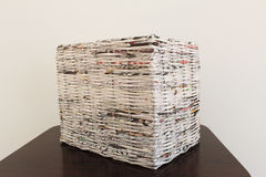 Weave in newspapers Royalty Free Stock Photos