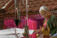 Free Weave Of Making Thai Silk Stock Photos - 65723363