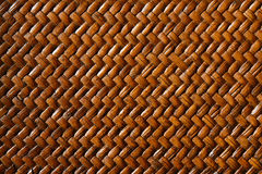 Weave pattern. Brown wooden diagonal weave pattern royalty free stock images