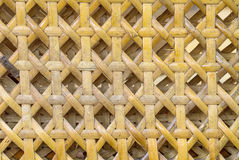 Weave pattern of bamboo background Royalty Free Stock Image
