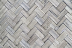 Weave pattern of bamboo background Royalty Free Stock Photos