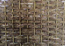 Weave pattern of bamboo use for background Royalty Free Stock Images