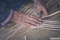 Weave pattern hand bamboo Royalty Free Stock Image