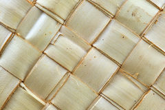 Weave pattern of palm leaves. Zigzag interlocking of palm leaves Royalty Free Stock Photos