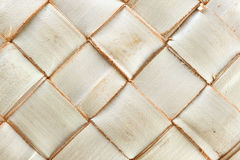 Weave pattern of palm leaves Stock Images