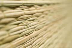 Weave pattern of reed mat Royalty Free Stock Photos