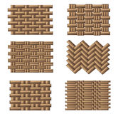 Weave pattern set Stock Image