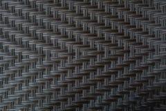 Weave plástico de vime do fundo Fotografia de Stock