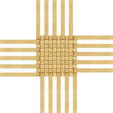 Weave recycled paper craft Royalty Free Stock Images