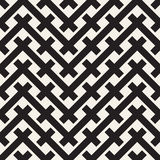 Weave Seamless Pattern. Braiding Background of Intersecting Stripes Lattice. Black and White Geometric Vector Stock Photos