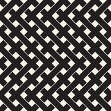 Weave Seamless Pattern. Braiding Background of Intersecting Stripes Lattice. Black and White Geometric Vector Stock Photography