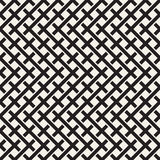 Weave Seamless Pattern. Braiding Background of Intersecting Stripes Lattice. Geometric Vector Royalty Free Stock Photos