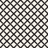 Weave Seamless Pattern. Braiding Background of Intersecting Stripes Lattice. Geometric Vector Royalty Free Stock Photography