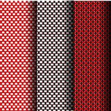 Weave Seamless pattern. Red and white weave Seamless pattern that can be used endlessly Royalty Free Stock Photos