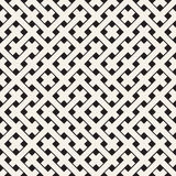 Weave Seamless Pattern. Stylish Repeating Texture. Black and White Geometric Vector Illustration. Stock Photography