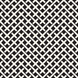 Weave Seamless Pattern. Stylish Repeating Texture. Black and White Geometric Vector Illustration. Royalty Free Stock Photography