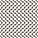 Weave Seamless Pattern. Stylish Repeating Texture. Geometric Vector Illustration. Royalty Free Stock Photography