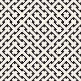 Weave Seamless Pattern. Stylish Repeating Texture. Geometric Vector Illustration. Royalty Free Stock Images