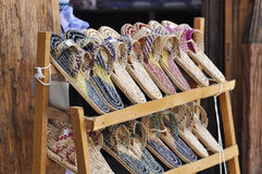 Weave Slippers Set Shelves Shop Stock Photography