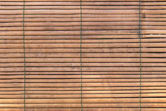 Weave of small bamboo wood texture for background Royalty Free Stock Images