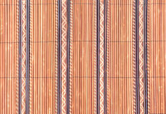 Weave of small bamboo wood texture for background Royalty Free Stock Photos