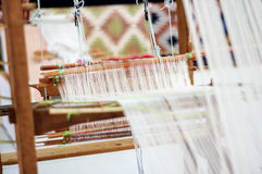 Weave textiles. By Thai local wisdom Royalty Free Stock Photography