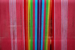 Weave tradition for cloth. Royalty Free Stock Images