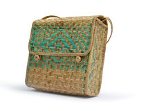 Weave wicker bag Royalty Free Stock Images