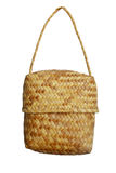 Weave wicker bag Stock Images