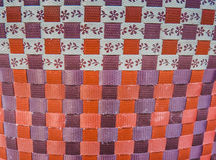 Weave Wicker Basket. Orange And purple Stock Images