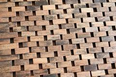 Weave wood background Stock Image