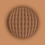 Weaved ball Royalty Free Stock Images