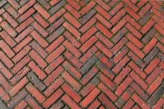 Weaved Brick Texture Background. Red bricks laid in a weaving pattern texture, background Stock Image