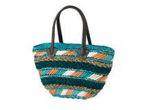 weaved dried water hyacinth lady handbag Stock Photos