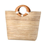 Weaved grass lady handbag Royalty Free Stock Photo