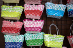 Weaved handbags. For sale, thailand Stock Photo