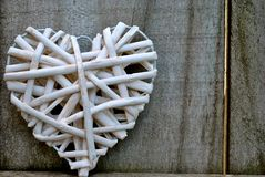 Weaved heart Royalty Free Stock Photos