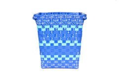 Weaved plastic basket Royalty Free Stock Photo