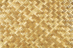 Weaved Rattan Mat Background Stock Photo