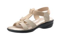 Weaved shoe for elder woman stock image