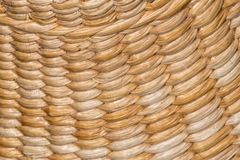 Weaved straw pattern background Royalty Free Stock Images
