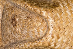 Weaved straw pattern background Royalty Free Stock Photography