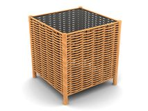 Weaved table Royalty Free Stock Photo