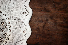 Weaved tablecloth Royalty Free Stock Images